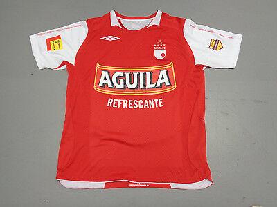 VINTAGE UMBRO Independiente Santa Fe SEWN RED XL JERSEY 2009/10 KIT COLOMBIA BOG image