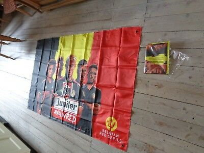Jupiler vlag reclame beer sign flag new fahne drapeau Belgian red devils players