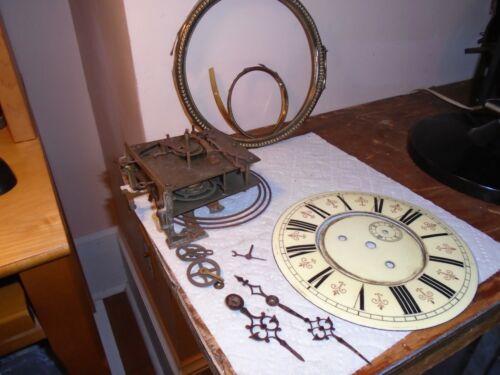 Antique-2 Weight-Vienna Regulator Clock Movement/Parts-Ca.1890-#E141