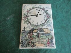Santa Barbara Ceramic Design Wall Clock Farm House 1987 USA