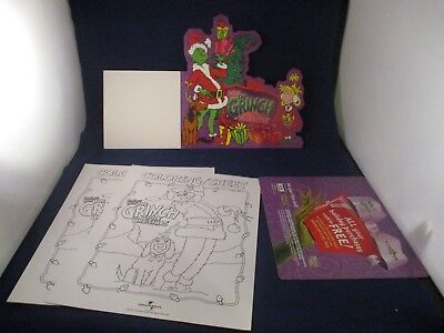 Dr. Seuss' How the Grinch Stole Christmas Promo Store Displays & Coloring Sheet