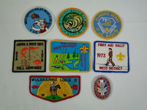 8 Boy Scouts Collector Patch BSA Lot 04