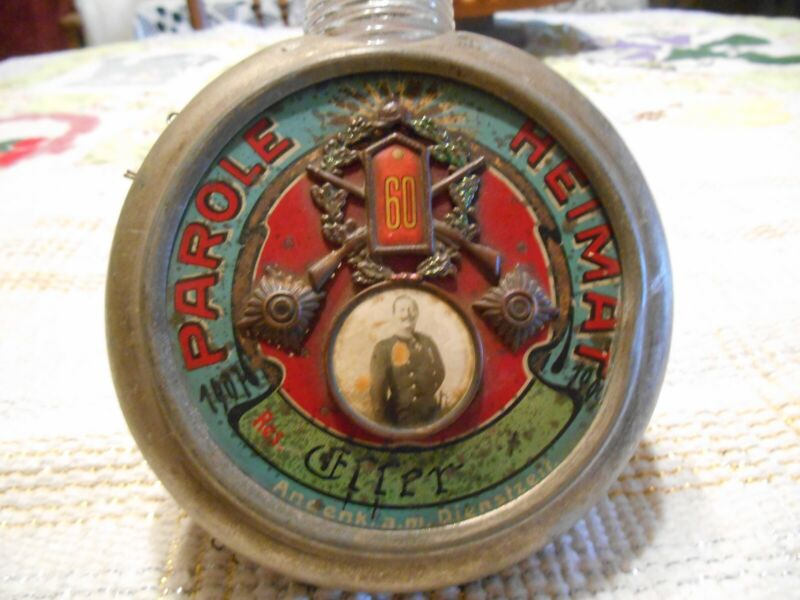 Antique Parole Heimat Flask