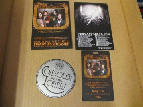 2006 RACONTEURS Broken Boy Soldiers Tour Postcard + Laminate + Consolers Sticker