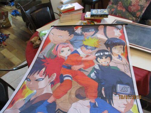 "Anime Fabric Canvas Silk Poster Mounted ready to hang 30"" x 42"" Naruto Uzumaki ?"