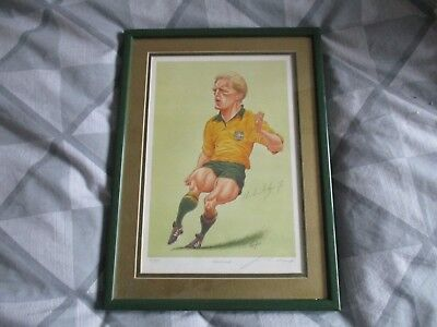 Autographed numbered print of Michael Lynagh  number 65 of 850