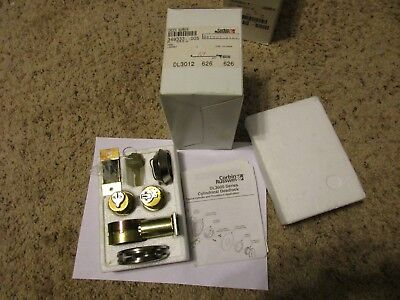 New Corbin Russwin Dl3012 Double Cylinder Deadlock 626 Satin Chrome 2-34 Backs