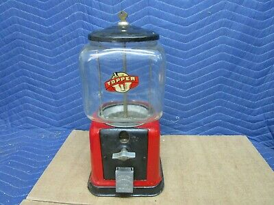 1940's Postwar Victor Vending Model V Gumball Machine, One Cent, Penny Vendor