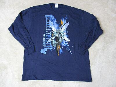 NEW Linkin Park Reanimation Concert Shirt Adult Extra Large Blue Band Tour (Linkin Park Band)