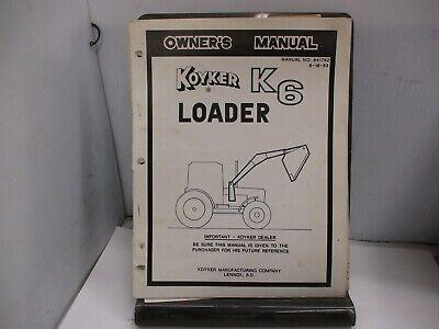 Koyker K6 Loader Owners Manual