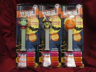 3 PEZ HALLOWEEN GLOW IN THE DARK TARGET EXCLUSIVE-VAMPIRE WITCH PUMPKIN NEW NIP ](Glow In The Dark Pumpkin)