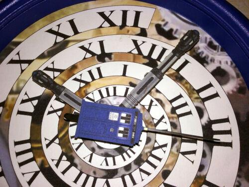 Handmade Doctor Who Time Vortex Wall Clock - TARDIS Blue!