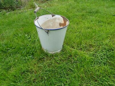 galvanised vintage bucket - 12 inches high (excluding handle)