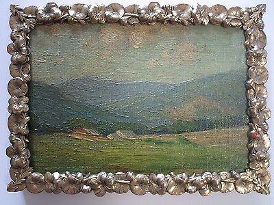Antique California Plein Air Oil Painting  American Artist Impressionist 1920S