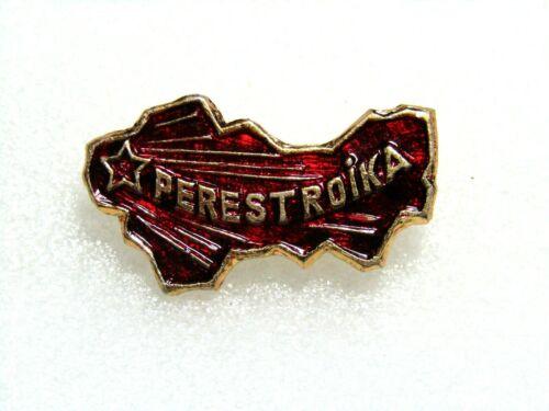 Map of the territory of the USSR PERESTROIKA Gorbachev 1985 propaganda Pin badge