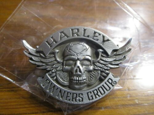 Harley Davidson HOG Skull and Wings Lapel Pin Harley Owners Group NEW