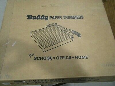 Great Buddy 2112 Wood Paper Trimmer Guillotine Cutter 12 Cut Length