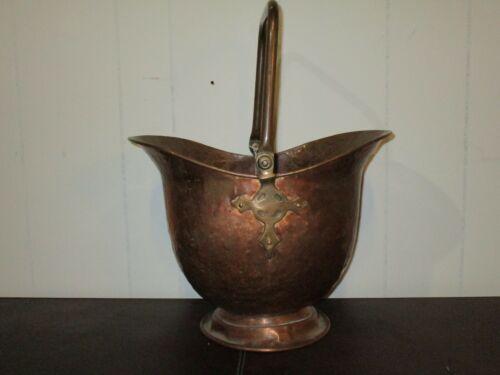 Copper Coal Bucket with brass handle
