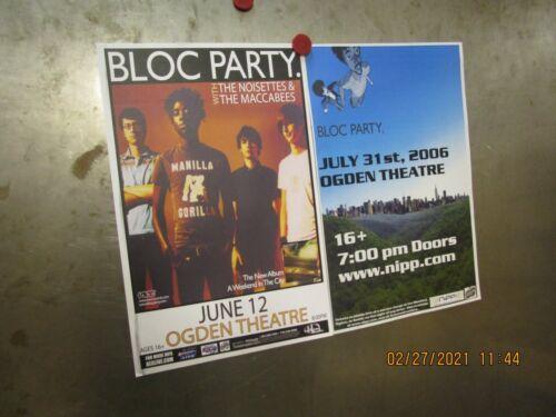 BLOC PARTY Lot Of 2 SHOW POSTERS Ogden Denver