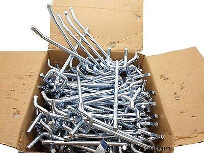 100pc 4 X 14 Peg Board Hooks Shelf Hanger Kit Garage Storage Hanging Set