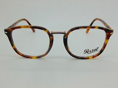 1052 Glasses - New PERSOL 3187-V 1052 Calligrapher Edition Madreterra RX 51mm Eyeglasses