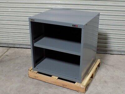 Stanley Vidmar Open Face Storage Cabinet 2-shelf 31 X 30 X 28 Steel Gray