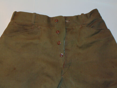 """VTG 1910s-20s EQUESTRIAN PANTS! LEATHER KNEE PATCHES/BUTTON FLY/PHILA! 30"""" WAIST"""