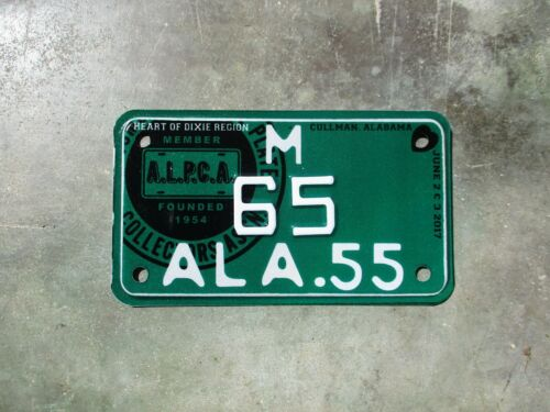 Alabama License plate meet license plate #   65