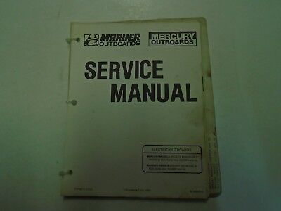Mercury Mariner Service Manual Electric Outboards (except Thruster II Models)