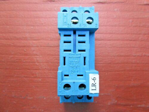 FINDER 96.72 Relay Base Socket 8-Pin 15Amp 250VAC