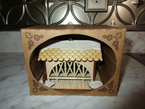Ginger Cottages Covered Bridge Horse Cottage Ornament