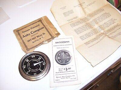 Original 1920 's- 1930s Vintage auto nos Compass dash Hot rat Rod gauge scta
