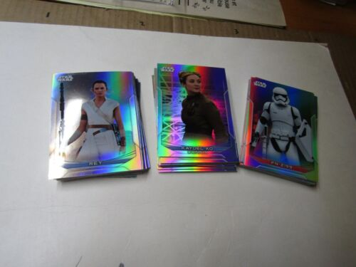 2020 STAR WARS CHROME PERSPECTIVES  REFRACTOR PARALLEL BASE SET. 100 CARDS. RARE