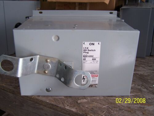 ITE BUSWAY PLUG, BOS14352, 60 AMP,480 VOLT, BUS, BUSS, BUS DUCT, RECONDITIONED