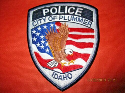 Collectible Idaho Police Patch,Plummer,New