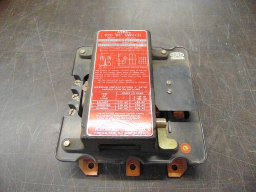 ASCO 920 Remote Control Switch 3 Poles 100 Amps 120v 9204