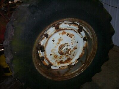 Vintage Allis Chalmers D 19 Gas Tractor -18.4 X 34 Rear Tire Wheel - 1961