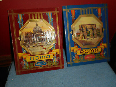 Vtg Rome Italy Postcard Books Ricordo Di Roma CECAMI Accordian Sepia Photographs