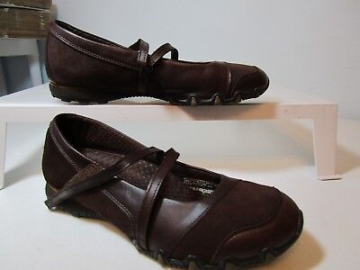 SKECHERS  Brown Leather Mary Jane  9.5 Brown Leather Mary Jane