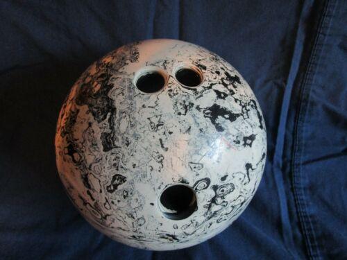 Vintage RARE Black & White Swirl Bowling Ball - AMF 0293