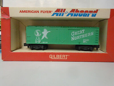 AMERICAN FLYER S SCALE #24422 GREAT NORTHERN REEFER IN ORIGINAL ALL ABOARD BOX