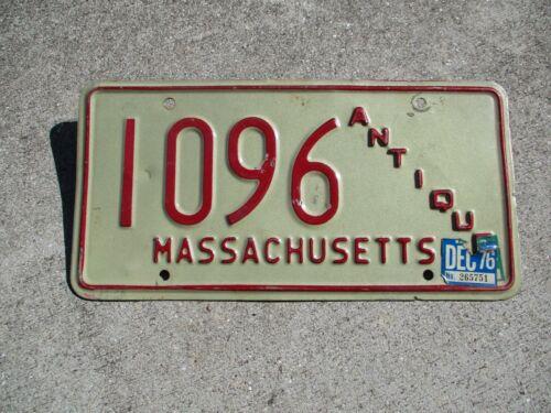 Massachusetts 1976 Antique license plate #   1096