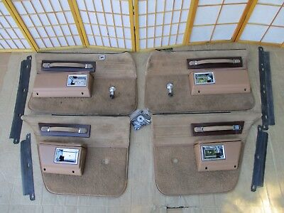 77-90 Caprice Delta 88 LeSabre Parisienne TAN 4DR Manual Crank Door Panel SET Chevy Caprice Door Panels