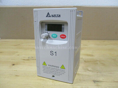 Delta Inverter Vfd002s23a Ac Variable Frequency Drive S1 14hp 3 Phase 240v