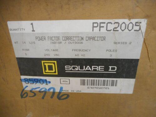 SQUARE D PFC2005 POWER FACTOR CORRECTION CAPACITOR 5 KVAR 240V 3 POLE