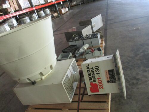 FEDERAL SIGNAL SIREN SYSTEM DCFCB, 2001-130, FULL PACKAGE, BATTERY OPERATED
