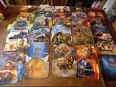 MTG (Magic the Gathering) - LOT OF 34 BOOSTERS BOX COVERS PICS -  Look ^^ !