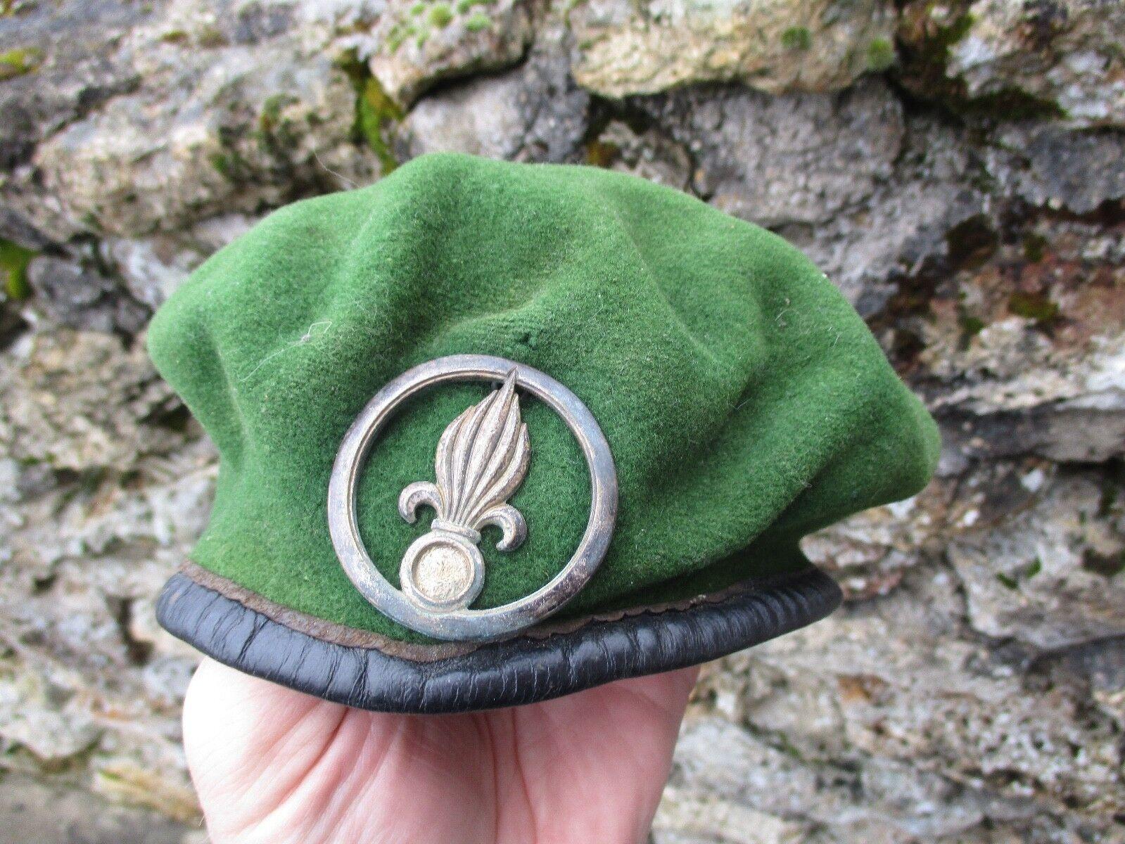 Beret vert légion avec insigne ancien armée francaise
