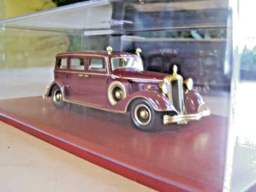 👍 CHINA LAST QING EMPEROR PU YI 1932 RED CADILLAC LIMOUSINE CAR 1:43 清帝溥仪豪华轿车