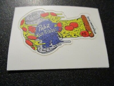 PABST BLUE RIBBON PBR ART Pizza STICKER decal craft beer brewery brewing